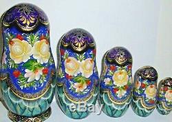 Russian matryoshka doll nesting babushka beauty girl Moscow handmade exclusive