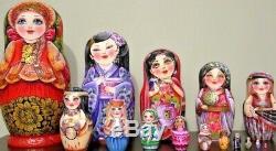 Russian matryoshka doll nesting babushka beauty girl handmade