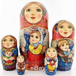 Russian matryoshka doll nesting babushka beauty girl handmade exclusive