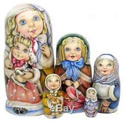 Russian matryoshka doll nesting babushka beauty girl miss handmade exclusive