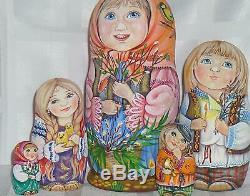 Russian matryoshka doll nesting babushka beauty girl willow handmade exclusive