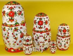 Russian matryoshka doll nesting babushka beauty handmade