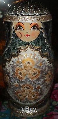Russian matryoshka doll nesting babushka beauty handmade 10pcs