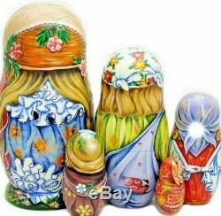 Russian matryoshka doll nesting babushka beauty kids handmade exclusive