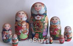 Russian matryoshka doll nesting babushka beauty samovar handmade exclusive