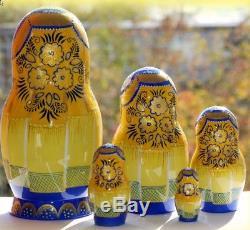 Russian matryoshka doll nesting babushka beauty summer handmade