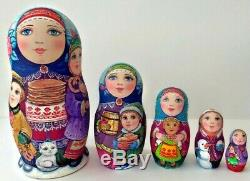 Russian matryoshka doll nesting babushka carnival handmade exclusive