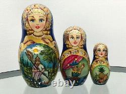 Russian matryoshka dolls Ruslan and Lumila. Beauty handmade exclusive 5/31