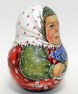 Russian matryoshka roly-poly babushka doll baby handmade exclusive