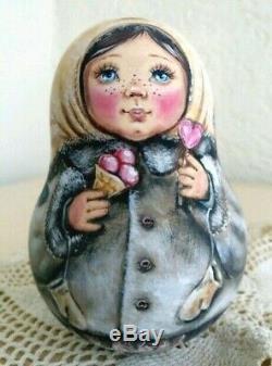 Russian matryoshka roly-poly babushka doll ice cream handmade exclusive