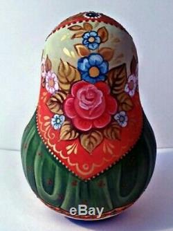 Russian matryoshka tumbler babushka doll beauty Cats handmade exclusive