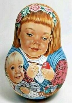 Russian matryoshka tumbler babushka doll beauty Easter egg handmade exclusive