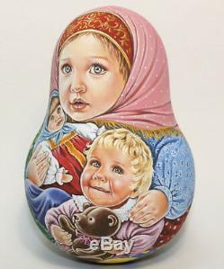 Russian matryoshka tumbler babushka doll beauty christmas handmade exclusive