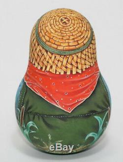 Russian matryoshka tumbler babushka doll beauty fishing handmade exclusive