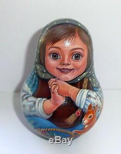 Russian matryoshka tumbler babushka doll beauty handmade exclusive
