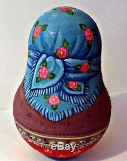 Russian matryoshka tumbler babushka doll beauty winter handmade exclusive
