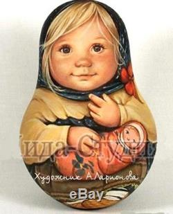 Russian matryoshka tumbler doll babushka beauty Lida original handmade exclusive