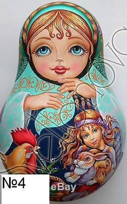Russian matryoshka tumbler doll babushka beauty girl angel handmade exclusive