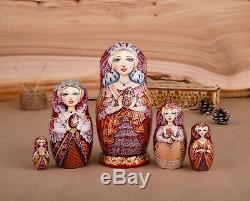 Russian nesting doll, Empress, Russian Matryoshka, Swarovski, Gift for her