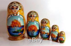 Russian nesting doll, Matryoshka 5 pcs set