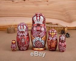 Russian nesting doll, Russian Empress Matryoshka, Faberge egg doll with crystald