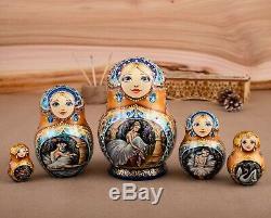 Russian nesting doll, Russian ballet Matryoshka, Wooden doll, USSR matryoshka