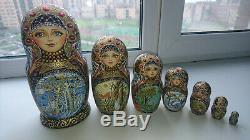 Russian nesting doll matryoshka russia art painting vintage