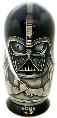 Russian nesting dolls STAR WARS DARTH VADER Padmé Anakin Skywalker Yoda 5 signed