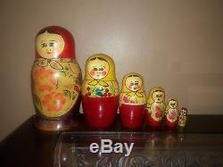 Russian nesting dolls matryoshka