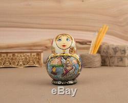 Saltan Nesting dolls Swan princess Russian doll Anniversary gift Matryoshka