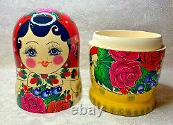 Semenovskaya Matryoshka 15 pcs Nesting Dolls 12.6 (32cm). Made in Russian