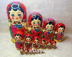 Semenovskaya Matryoshka 20 pcs Nesting Dolls 15 (37cm). Made in Russian