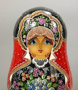 Set of 20 Russian Matryoshka Nesting Dolls Signed Made in Sergiev Posad
