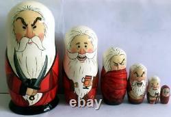 Set of 6 nesting dolls Rise of the guardians Santa nesting doll