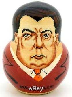 Soviet Russian leader Babushka nesting 10 dolls Putin Yeltsin Gorbachov Brezhnev