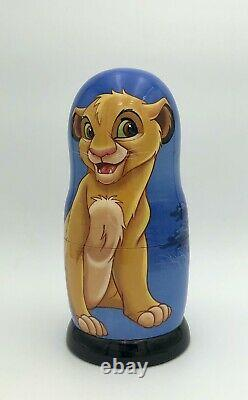 The Lion King, Simba Inspired Matryoshka, Russian nesting dolls, handmade