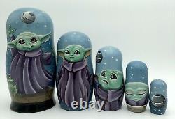 The Mandalorian Inspired Russian Nesting Dolls, Matryoshka, Baby Yoda, Grogu