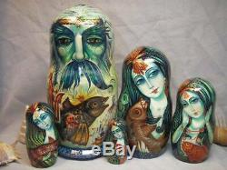 The Sea Lord and his daughters nesting doll by acclaimed author Eduard Makarov