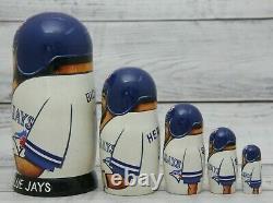 Toronto Blue Jays Baseball MLB Sport Doll 7.1 Hand Painted Russian Nesting Doll