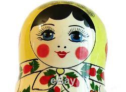 Traditional nesting doll matryoshka russian dolls Semyonovskaya girl 10 pcs 76k