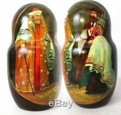 Unique Russian Nesting Doll Jewish Holidays- Artist Signed