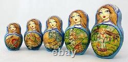 Unique Russian Nesting Doll Russian Fairy-Tale Ilya Murometz -20 dolls set