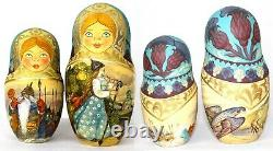 Unique Russian Nesting Doll Russian Fairy Tales- Artist Signed
