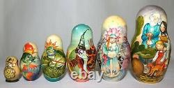 Unique Russian Nesting Doll Russian Fairy-Tales-Set of 11- Artist Signed