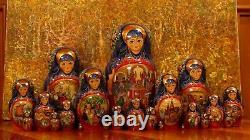 VTG 16RUSSIAN NESTING DOLL 25 PCS THE TALE of TSAR SALTAN PANTELEYMONOVA 96