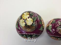VTG BEAUTIFUL Russian Matryoshka Nesting Dolls, 10 pcs! Hand Painted, Flawless