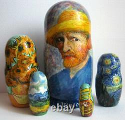 Van Gogh nesting doll 5 pieces matryoshka