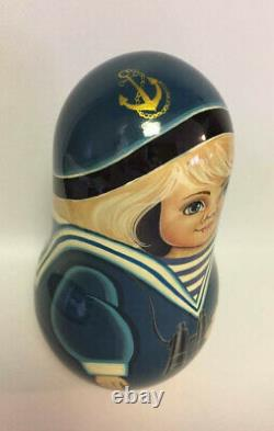 Very Big Russian Matryoshka Roly Poly Doll Hand Painted #3