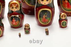 Very Large Unique Russian Handpainted Matryoska Nesting Doll