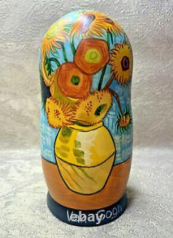 Vincent van Gogh Nesting Dolls Matryoshka 7.1 (18cm). Made in Russian souvenir